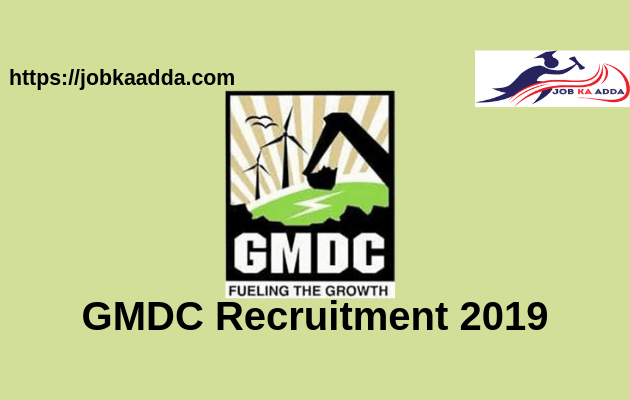 GMDC Recruitment 2019