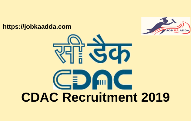 CDAC Recruitment 2019 for Project Engineer/Project Technician