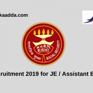 ESIC Recruitment 2019 for Junior Engineers