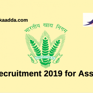 FCI Recruitment 2019 for Assistant