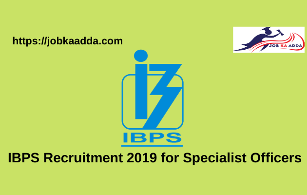 IBPS Recruitment 2019 for Specialist Officers