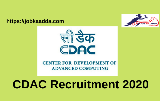 CDAC Recruitment 2020 for Project Engineer/ Project Manager
