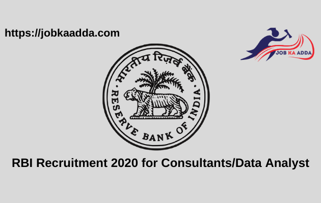 RBI Recruitment 2020 for Consultants_Data Analyst