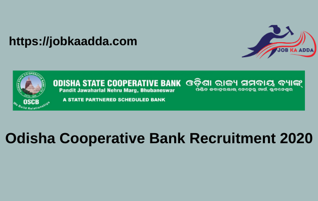 Odisha Cooperative Bank Recruitment 2020