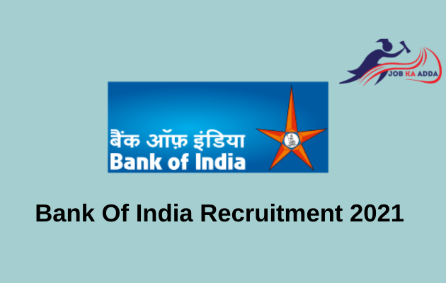 Recruitment for Bank of India 2021 | Office Assistant/Attendant | Kolkata
